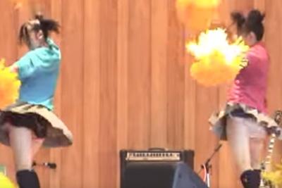 【文化祭 パンチラ】キター!履き忘れてる事に気づかず全校生徒にパンツを見せてしまうダンス部の美少女JKww 問題のシーン6:00~