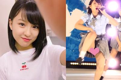 【アイドル パンチラ】AKB48山田菜々美が激しいダンスでパンツはみ出しちゃう♪  問題のシーン1:51