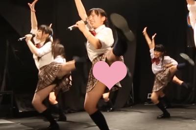 【アイドル パンチラ】このアングルとこのダンス、パンチラしないほうが無理じゃね?ww 問題のシーン1:55