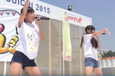 【アイドル パンチラ】美少女JKユニットのパンチラキター!!丈の短いショートパンツの隙間から純白パンツがwww