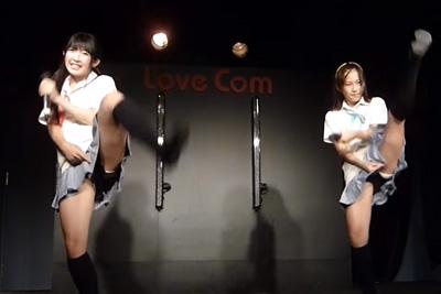 《芸能人 パンチラ》JK地下アイドルが制服で足上げダンスした結果ブルマからはみ出す純白パンツをオタにしっかり撮影されるww