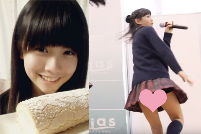 【アイドル パンチラ】当時JK入学前!AKBより可愛い地方アイドルがローアングル撮影にブルマはみだしパンツ激写される♪ 問題のシーン1:16
